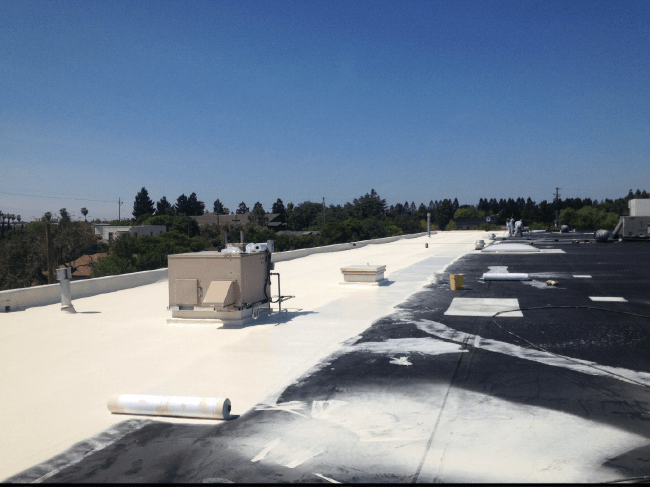 Leghorn Apply AcryPly Roof System During Installation